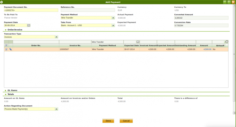 Purchase Invoice AddPayment ExchangeRate.png