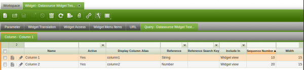 Datasource widget example.